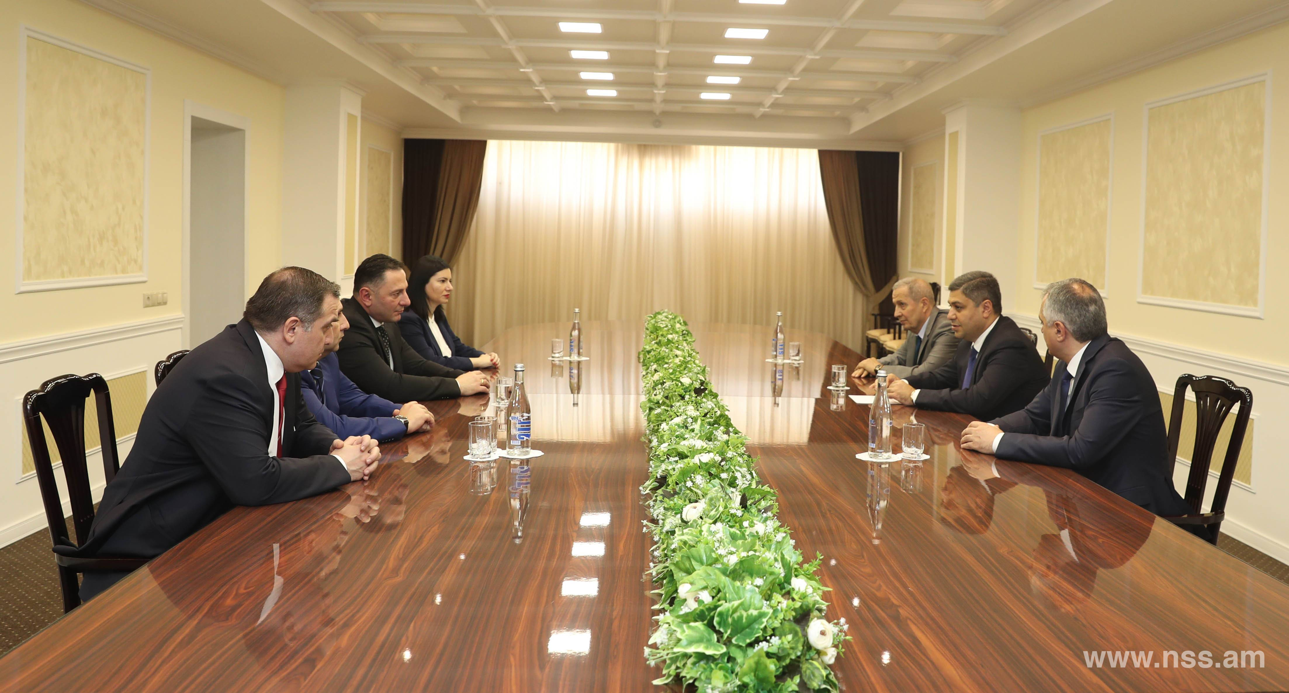 Director of the NSS of RA Received Georgian Counterpart