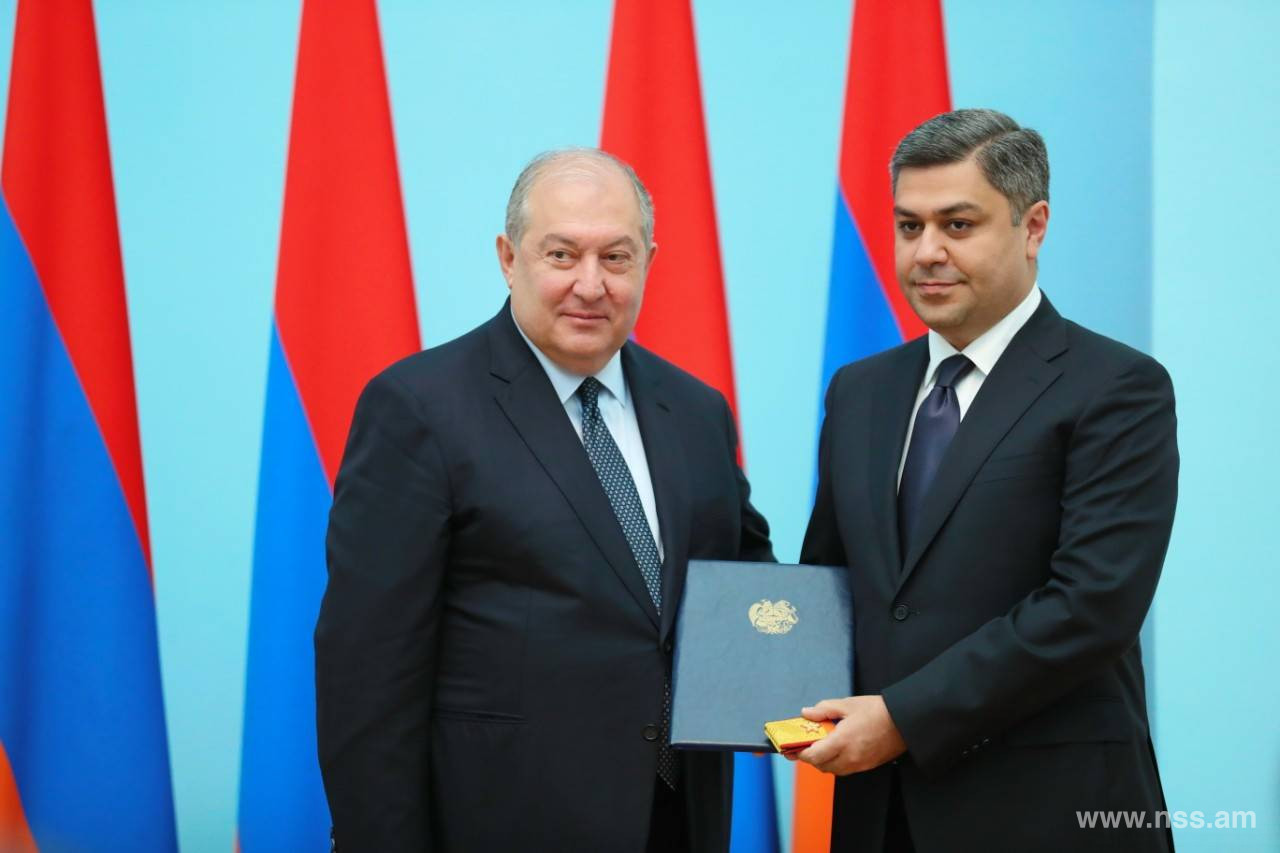 Military Rank of Major General Conferred to Director of NSS of RA A. Vanetsyan