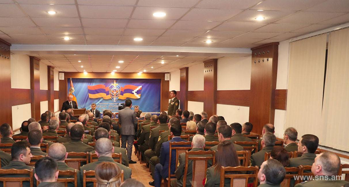 Issues related to cooperation of two Armenian States in the field of security were discussed. RA NSS delegation was in Artsakh Republic
