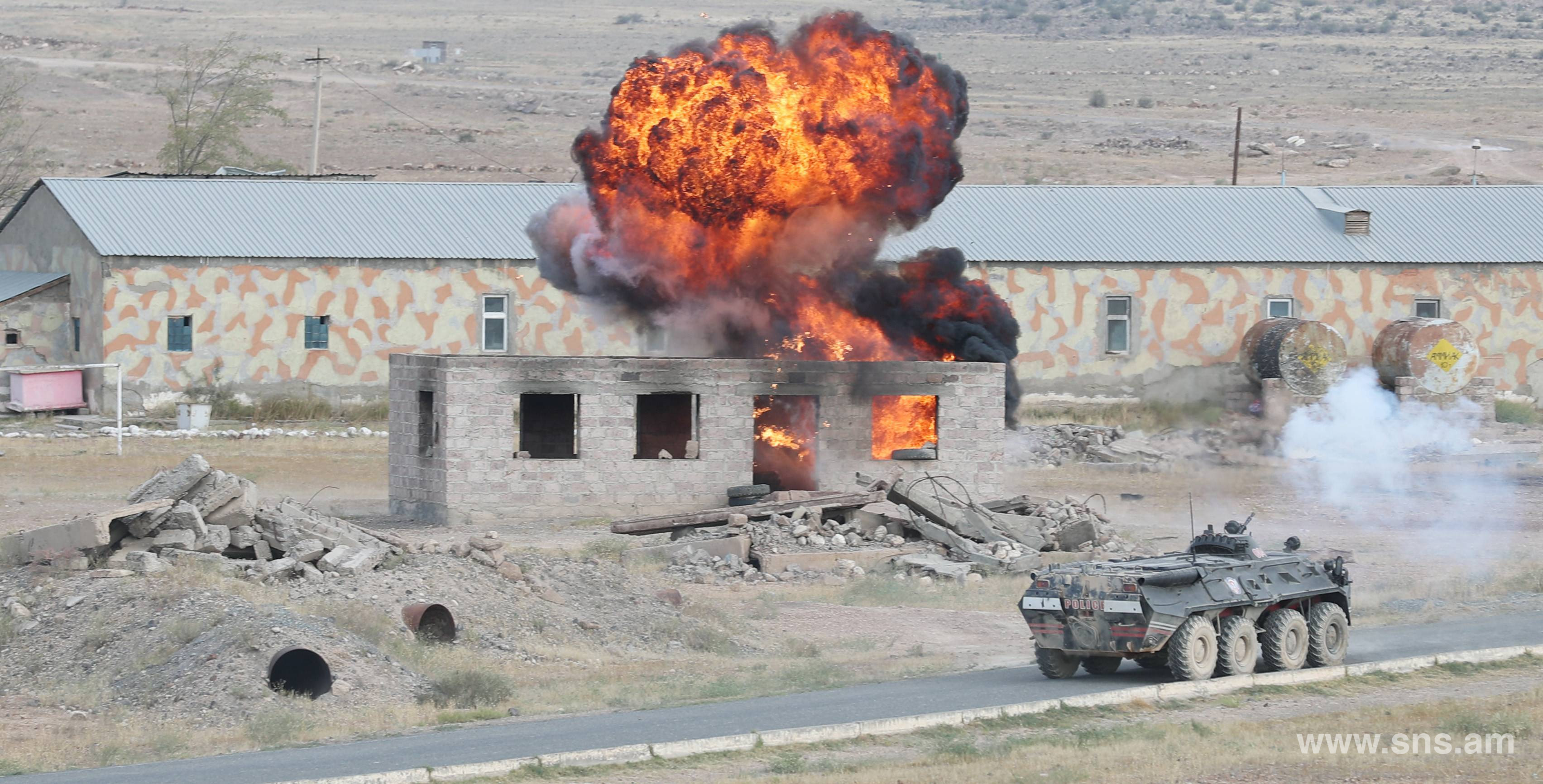 """Ararat-Antiterror-2019"" Joint Anti-Terrorism Exercise of Competent Authorities of CIS Member-States ended at Baghramyan Training Ground of RA AF"