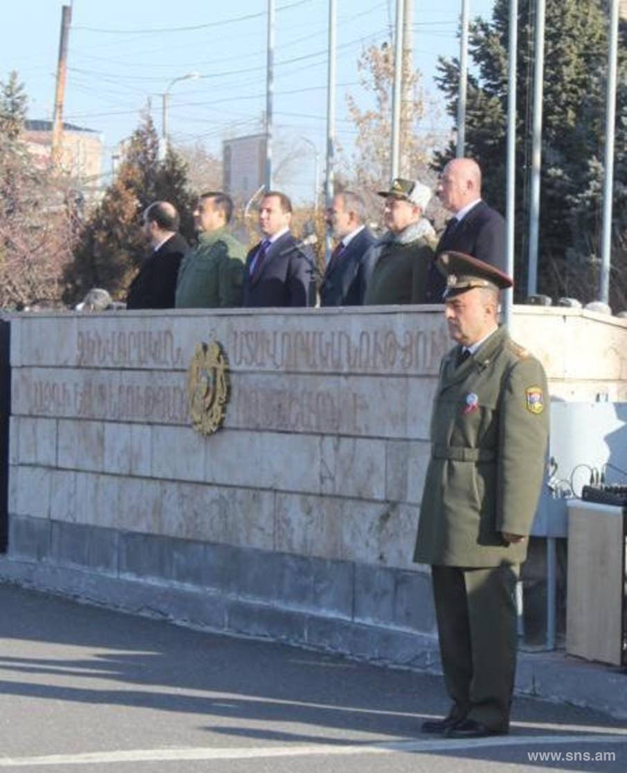 Martirosyan attended the event on the occasion of 25th anniversary of the formation of the Military University named after V. Sargsyan