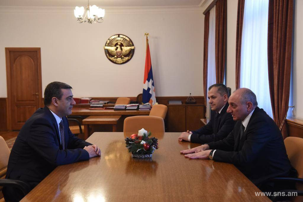 Delegation Led by E.Martirosyan Participated in Ceremonial Meeting Dedicated to Professional Holiday of NSS of Republic of Artsakh.