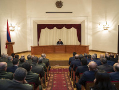E. Martirosyan Introduced to the Officers of the NSS the Newly Appointed Deputies of Director