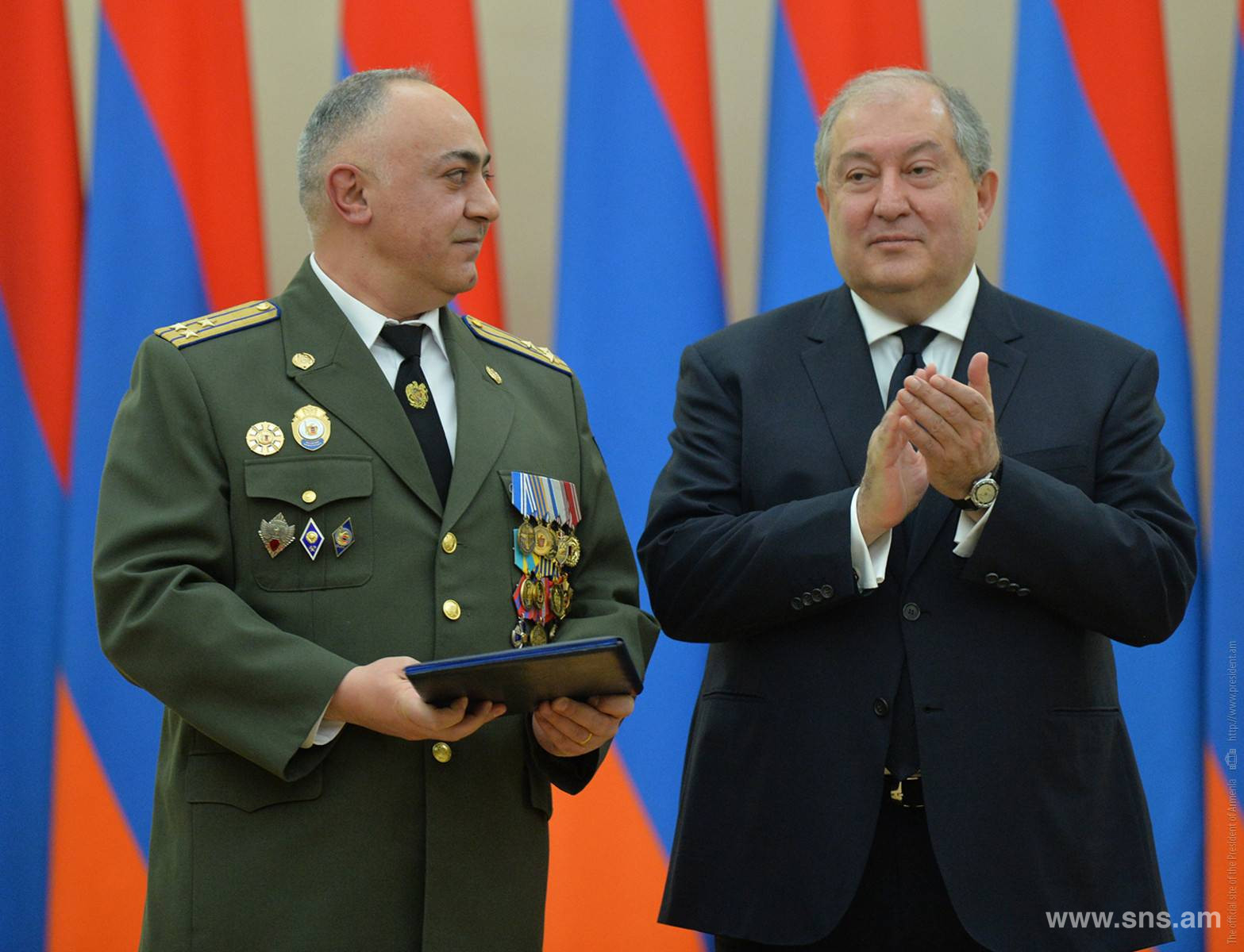 Military Rank of Major General Awarded to Colonel L. Shahumyan