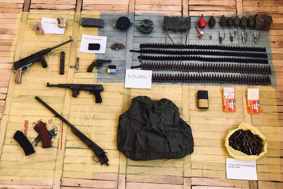 Voluntary Surrender of Large Amounts of Weapons and Ammunition